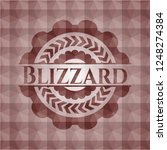 blizzard red badge with... | Shutterstock .eps vector #1248274384