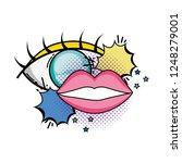 eye human and mouth pop art... | Shutterstock .eps vector #1248279001