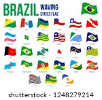 brazil all states waving flags... | Shutterstock .eps vector #1248279214