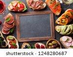 brushetta or traditional... | Shutterstock . vector #1248280687
