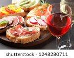 brushetta or traditional... | Shutterstock . vector #1248280711