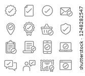 approved vector line icon set.... | Shutterstock .eps vector #1248282547