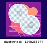 multipurpose social media kit... | Shutterstock .eps vector #1248285394