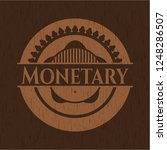 monetary badge with wood... | Shutterstock .eps vector #1248286507