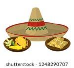 delicious mexican food cartoon | Shutterstock .eps vector #1248290707