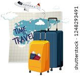 time to travel icon | Shutterstock .eps vector #1248293491