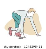 a man character preparing to... | Shutterstock .eps vector #1248295411