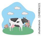 cute farm cartoon   Shutterstock .eps vector #1248306121