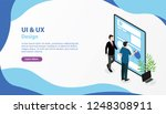 ui ux user interface and user... | Shutterstock .eps vector #1248308911