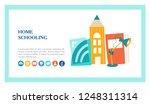 the concept of homeschooling.... | Shutterstock .eps vector #1248311314