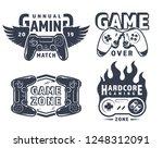 vintage monochrome gaming...   Shutterstock .eps vector #1248312091
