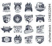 vintage monochrome gaming... | Shutterstock .eps vector #1248312094