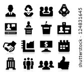 business   meeting icons | Shutterstock .eps vector #124831645