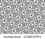 ornament with elements of black ... | Shutterstock . vector #1248319951