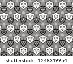 ornament with elements of black ... | Shutterstock . vector #1248319954
