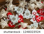 christmas ornaments and lights | Shutterstock . vector #1248323524