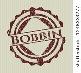 red bobbin distress rubber stamp | Shutterstock .eps vector #1248333277