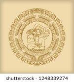 maya calendar of mayan or aztec ...   Shutterstock .eps vector #1248339274