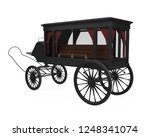 Horse Drawn Hearse Isolated. 3d ...