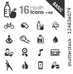 basic   health and fitness icons
