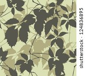 Seamless Pattern With Leaf...