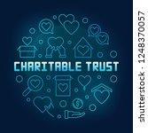 charitable trust round vector... | Shutterstock .eps vector #1248370057