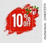 sale red blobs banner... | Shutterstock .eps vector #1248372574