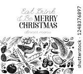 happy christmas dinner design... | Shutterstock .eps vector #1248376897