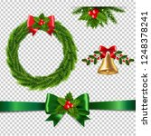 christmas set isolated... | Shutterstock .eps vector #1248378241