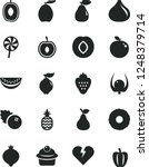 solid black vector icon set  ... | Shutterstock .eps vector #1248379714