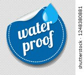 water proof sticker isolated... | Shutterstock . vector #1248380881