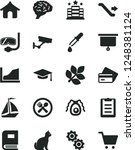 solid black vector icon set  ...   Shutterstock .eps vector #1248381124