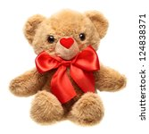 Classic Teddy Bear With Red Bow ...