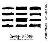 set of black brush stroke and... | Shutterstock .eps vector #1248385507