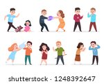 angry kids. bad boys and girls... | Shutterstock .eps vector #1248392647
