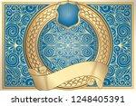 golden ornate decorative...   Shutterstock .eps vector #1248405391