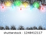christmas snow background with...   Shutterstock .eps vector #1248412117