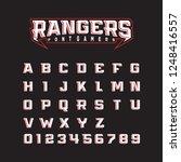 modern font rangers bold ... | Shutterstock .eps vector #1248416557
