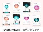 abstract vector business... | Shutterstock .eps vector #1248417544