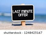 last minute offer text concept... | Shutterstock . vector #1248425167