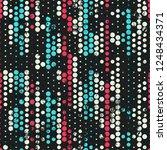 grunge circles seamless pattern  | Shutterstock . vector #1248434371