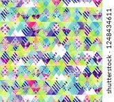 cloth seamless pattern. grunge... | Shutterstock . vector #1248434611