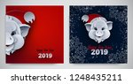 happy new year banners set ... | Shutterstock .eps vector #1248435211