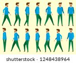 collection set of walking... | Shutterstock .eps vector #1248438964