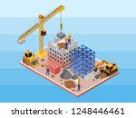 isometric vector illustration... | Shutterstock .eps vector #1248446461