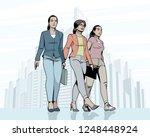 vector illustration of women...   Shutterstock .eps vector #1248448924
