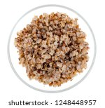 buckwheat porridge in glass... | Shutterstock . vector #1248448957