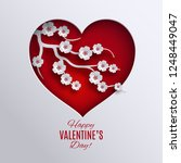 happy valentine's day banner.... | Shutterstock .eps vector #1248449047