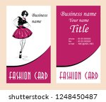 business cards with fashion... | Shutterstock .eps vector #1248450487