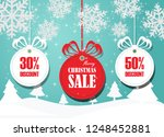 merry christmas and happy new... | Shutterstock .eps vector #1248452881